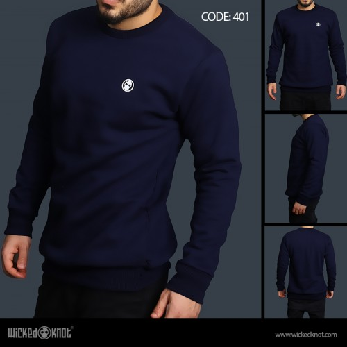 Basic Dark Blue Sweatshirt
