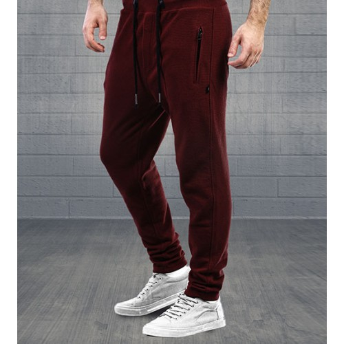 WickedKnot Cotton Sweat Pants - Auburn