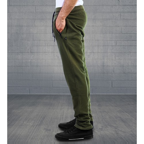 WickedKnot Cotton Sweat Pants - Dark Olive Green