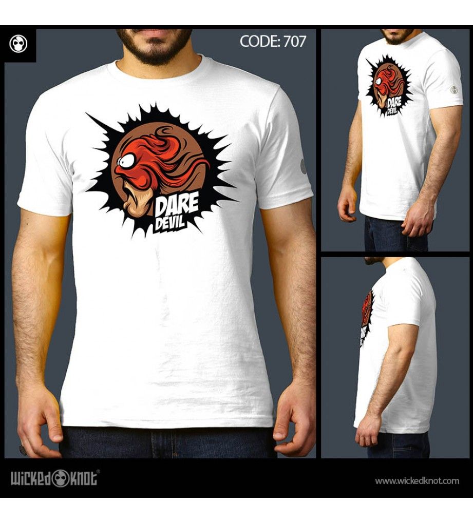 Dare Devil White T shirt