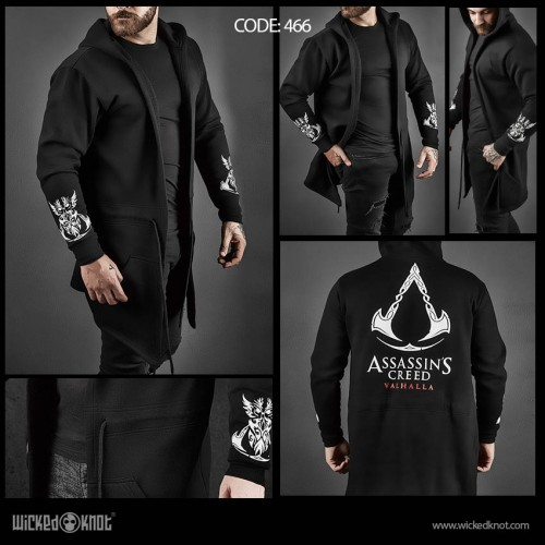 Assassin's Creed Valhalla Black Hoodie
