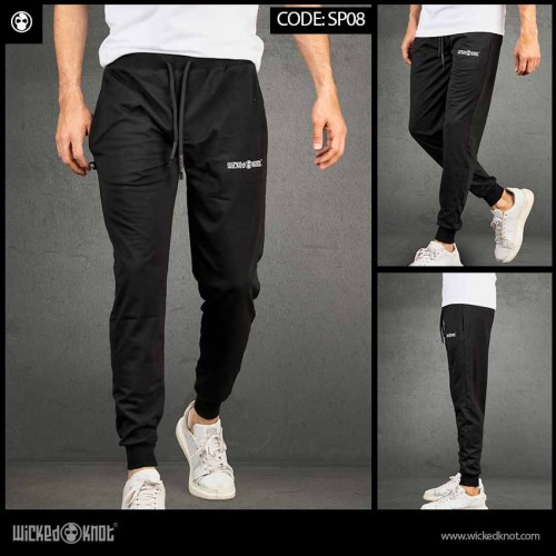 Black Branded Sweatpants