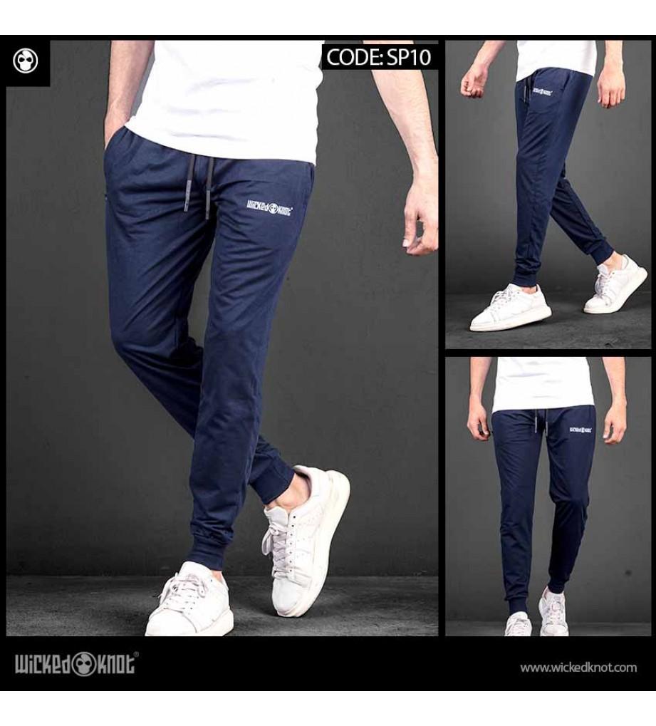 Dark Blue Branded Sweatpants