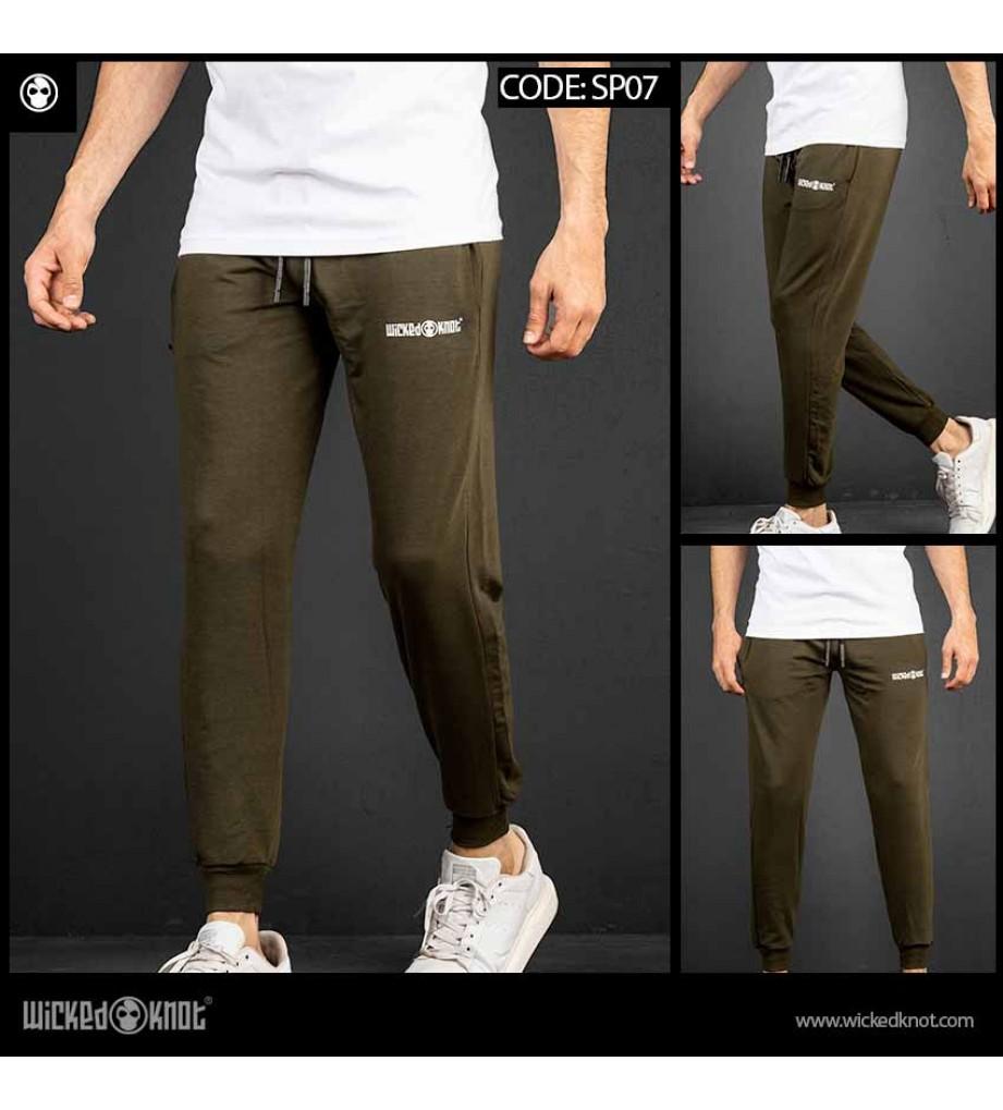 Olive Branded Sweatpants