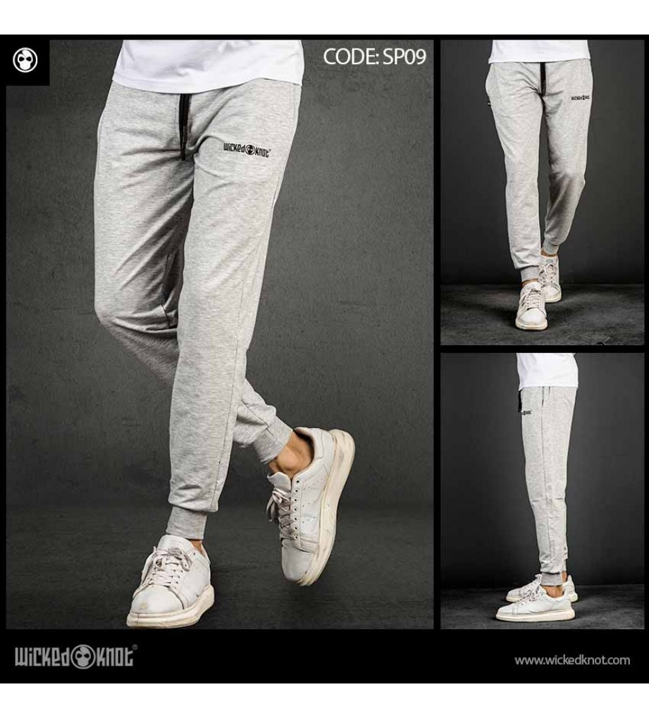 Light Gray Branded Sweatpants