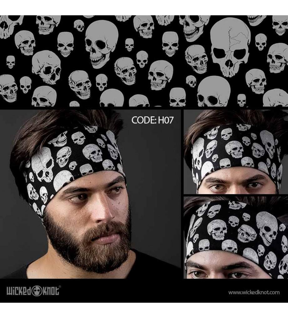 Skulls Pattern Head Band