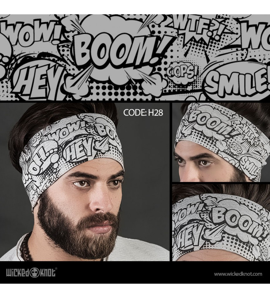 Comic Punch Head Band