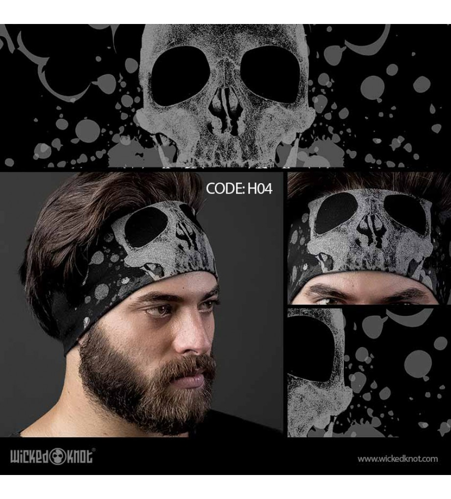 Massive Skull Head Band