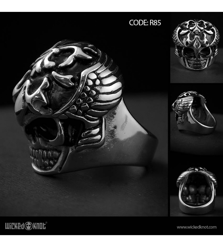 Bulky Skull - Stainless Steel Ring