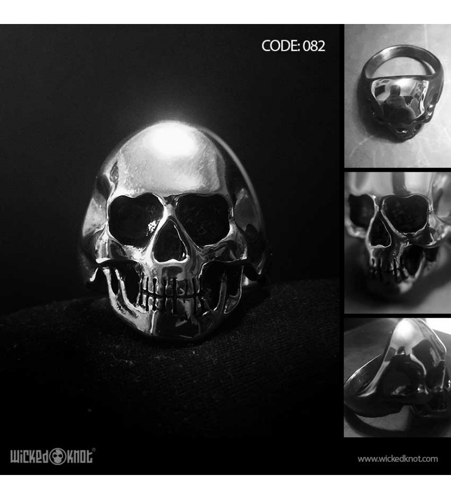 Biker Skull - Stainless Steel Ring