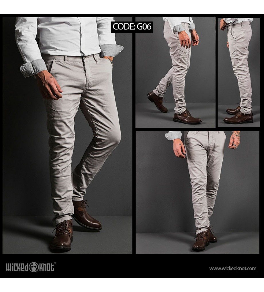 WickedKnot Gabardine Off white Pants