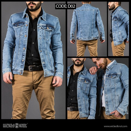 WickedKnot Light Blue Jeans Jacket