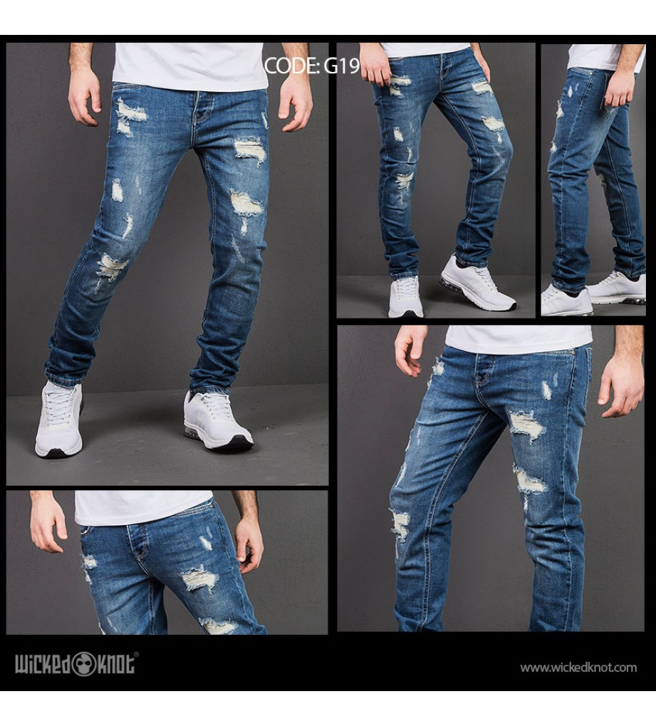 WickedKnot Distressed Jeans