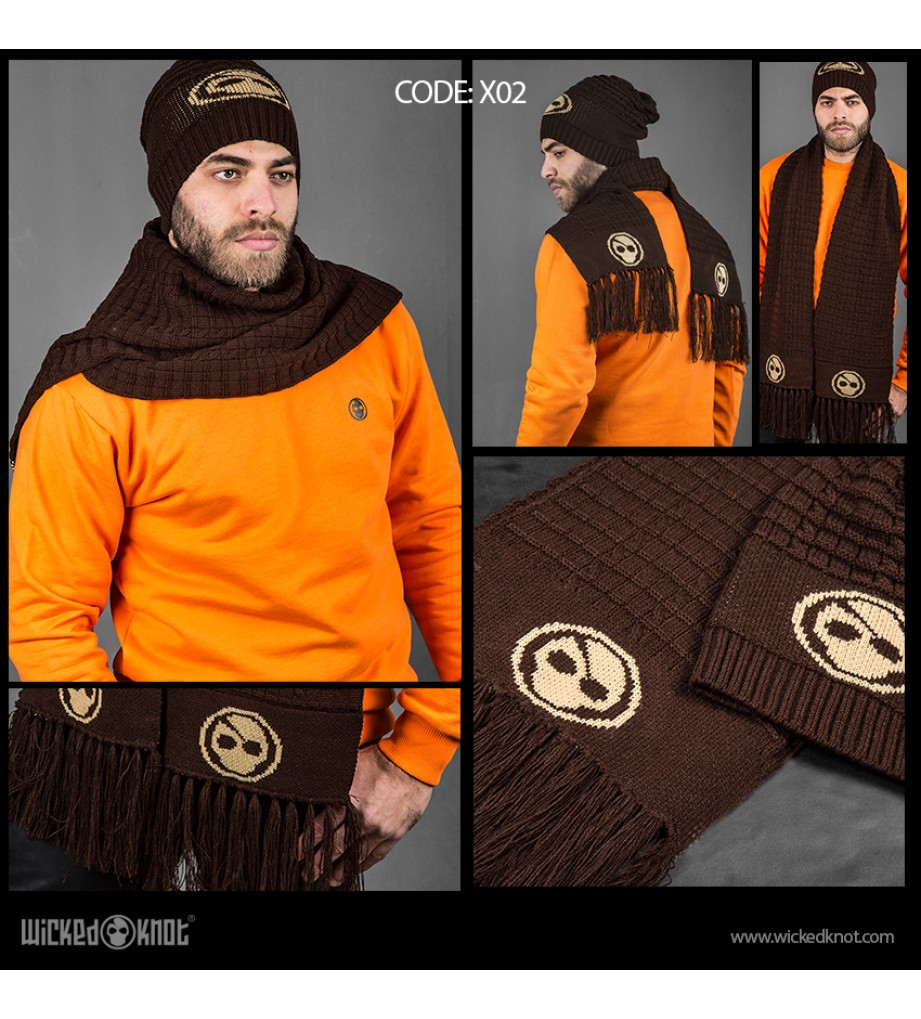 Brown Branded Scarf & Ice Cap Bundle