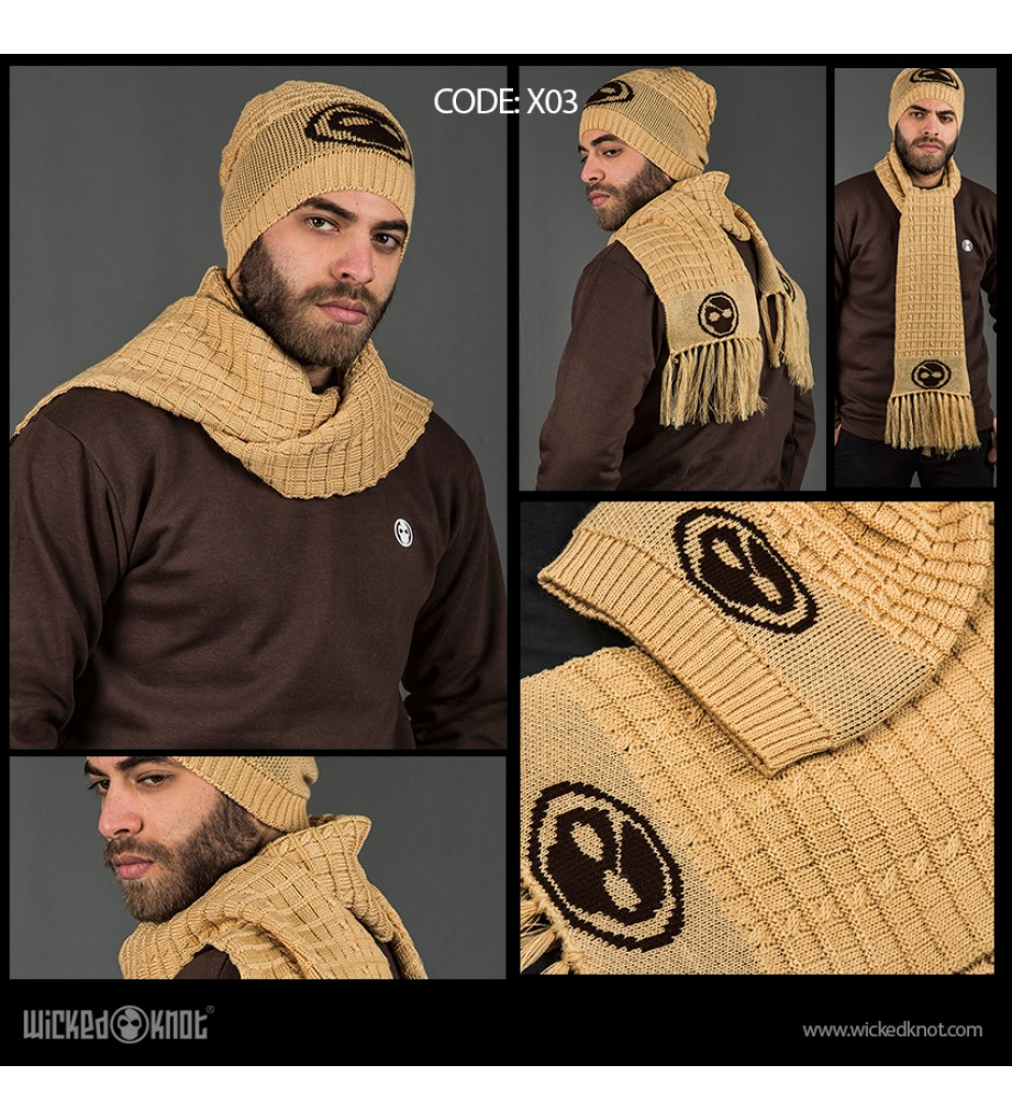 Cream Branded Scarf & Ice Cap Bundle