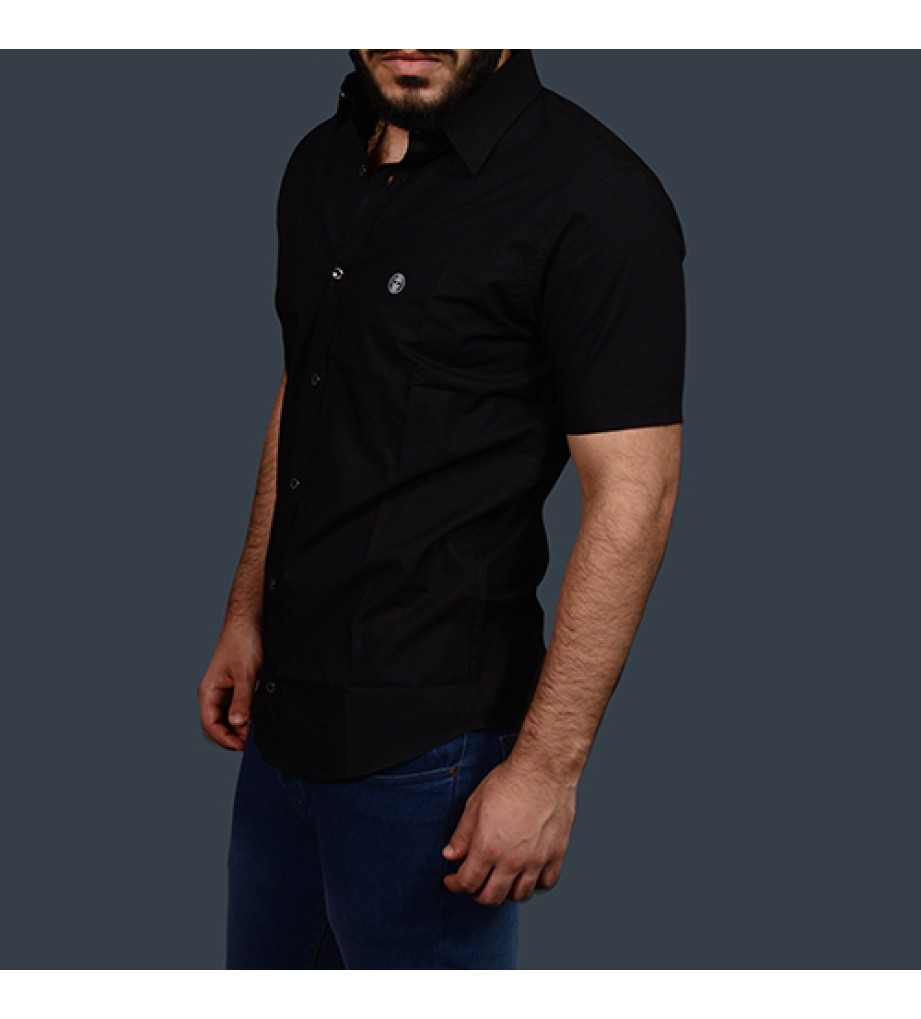 Black Half Sleeve Shirt