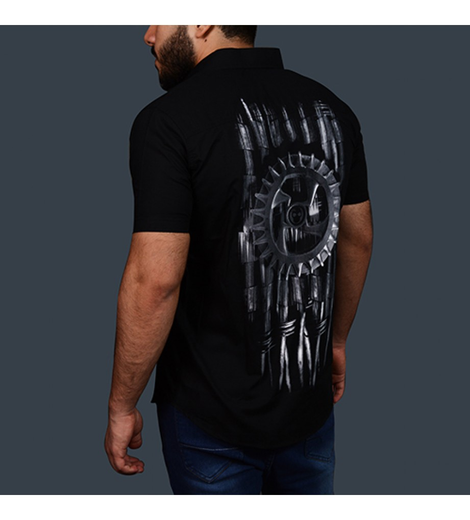 Steampunk Half Sleeve Shirt