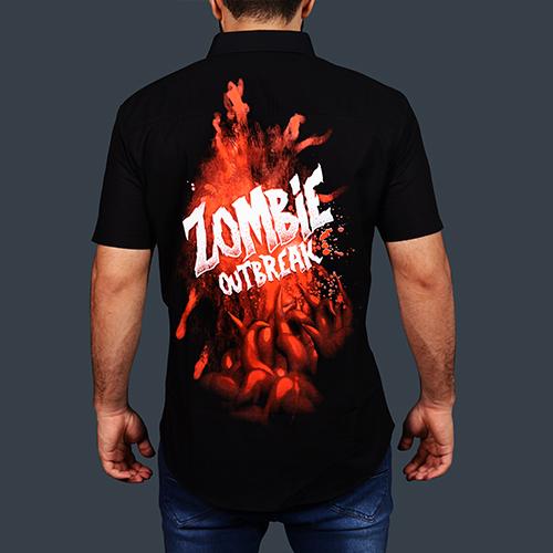 Zombie Outbreak Half Sleeve Shirt